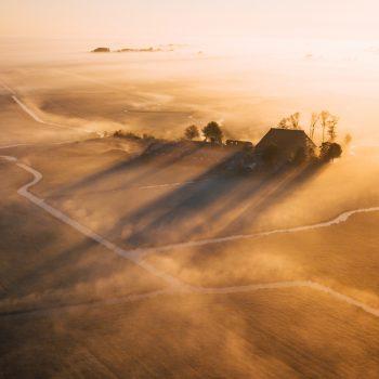 Mist op het platteland