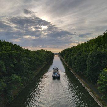 Boot op het Kempisch kanaal
